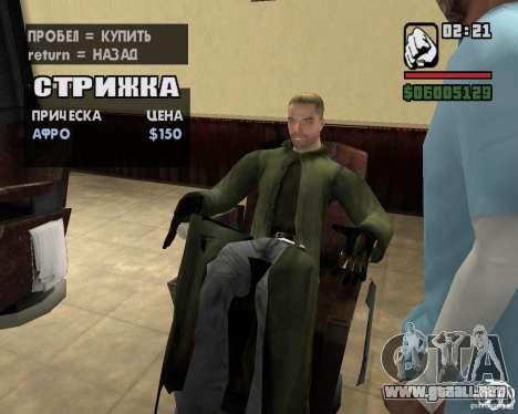 Ropa de un acosador para GTA San Andreas novena de pantalla