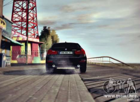 BMW 335i Coupe para GTA 4 vista hacia atrás