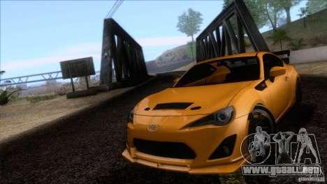 Scion FR-S 2013 para GTA San Andreas vista hacia atrás