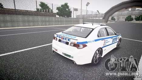 Honda Accord Type R NYPD (City Patrol 1090) ELS para GTA 4 vista lateral
