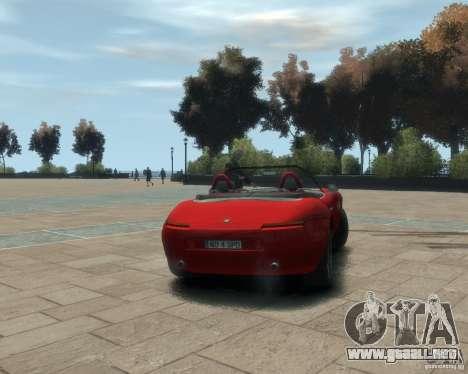 BMW Z8 para GTA 4 Vista posterior izquierda