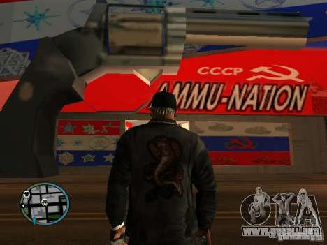 Russian Ammu-nation para GTA San Andreas sucesivamente de pantalla