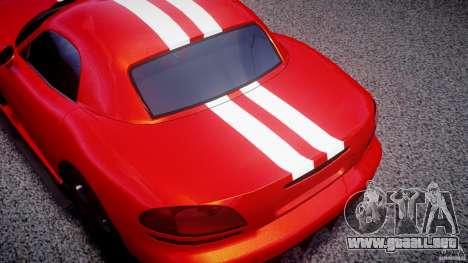 Dodge Viper RT 10 Need for Speed:Shift Tuning para GTA 4 vista hacia atrás
