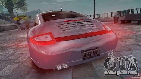 Porsche Targa 4S 2009 para GTA 4 Vista posterior izquierda