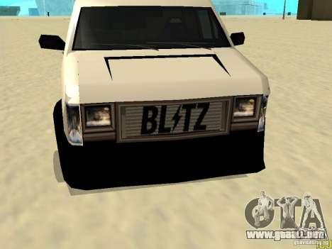 Burrito by W1nstoN para GTA San Andreas vista posterior izquierda