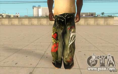 Hip-hop jeans para GTA San Andreas tercera pantalla