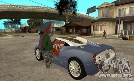 Spyker C12 Zagato para GTA San Andreas vista posterior izquierda