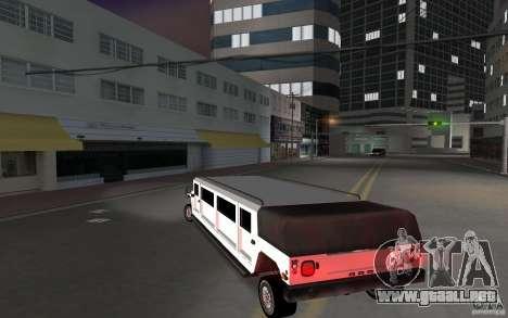 HUMMER H1 limousine para GTA Vice City vista lateral izquierdo