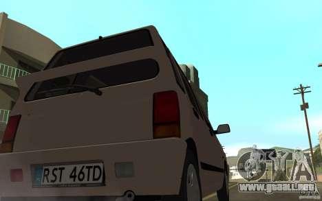 Daewoo Tico SX para GTA San Andreas vista posterior izquierda