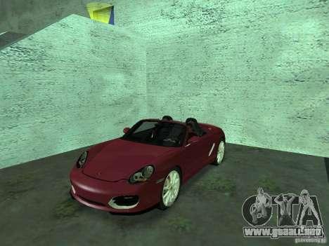 Porsche Boxster para GTA San Andreas vista hacia atrás