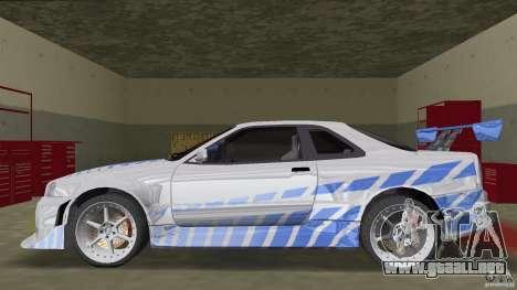 Nissan Skyline R-34 2Fast2Furious para GTA Vice City left