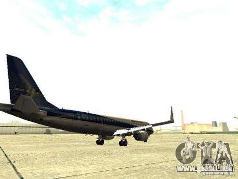 Embraer E-190 para la visión correcta GTA San Andreas