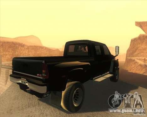 GMC Topkick C4500 2008 para la visión correcta GTA San Andreas