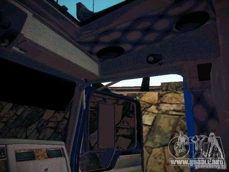 Kenworth W900 para visión interna GTA San Andreas