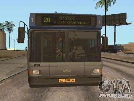 MAZ 103 para GTA San Andreas left