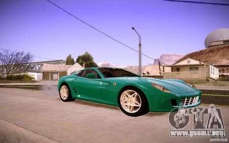 Ferrari 599 GTB Fiorano 2010 para GTA San Andreas left