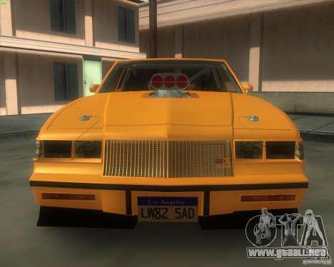 Buick GNX pro stock para la visión correcta GTA San Andreas