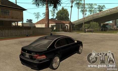 BMW 760Li (e66) SE para la visión correcta GTA San Andreas