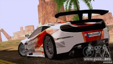McLaren MP4-12C Speedhunters Edition para GTA San Andreas left