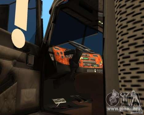 Western Star 4900EX v 0.1 para la visión correcta GTA San Andreas