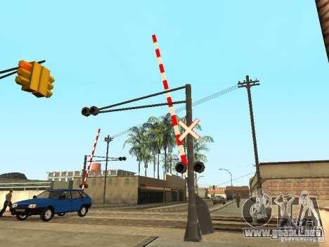 FERROCARRIL cruzando RUS para GTA San Andreas tercera pantalla