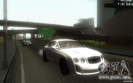 Bentley Continental SS para GTA San Andreas vista hacia atrás