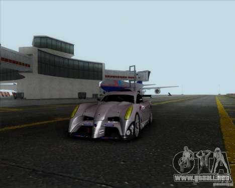 Panoz Abruzzi Le Mans V1.0 2011 para GTA San Andreas vista posterior izquierda