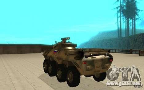 BTR-90 para GTA San Andreas vista posterior izquierda