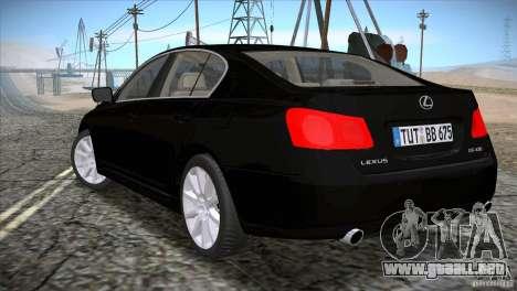 Lexus GS430 para GTA San Andreas left