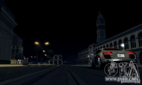Audi R8 5.2 FSI Quattro para GTA San Andreas vista posterior izquierda