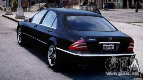 Mercedes-Benz W220 para GTA 4 Vista posterior izquierda