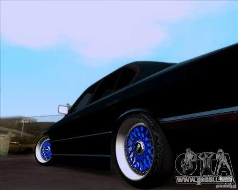 BMW 5-er E34 para GTA San Andreas vista hacia atrás