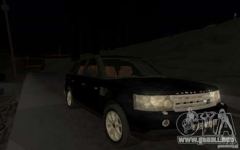 Land Rover Range Rover para vista lateral GTA San Andreas