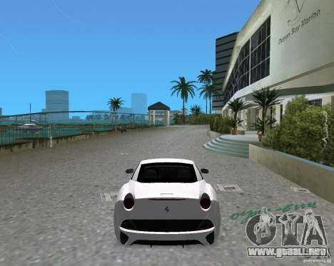 Ferrari California para GTA Vice City left
