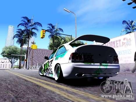 Ford Escort RS 92 Hella para GTA San Andreas vista posterior izquierda