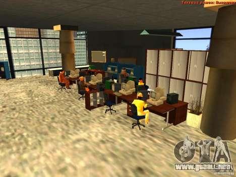 20th floor Mod V2 (Real Office) para GTA San Andreas sucesivamente de pantalla
