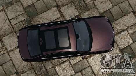 Mercedes-Benz E63 AMG para GTA 4 visión correcta