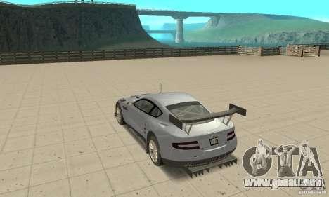 Aston Martin DBR9 (v1.0.0) para GTA San Andreas vista posterior izquierda