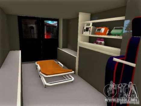 Ford E-350 Ambulance v2.0 para la visión correcta GTA San Andreas