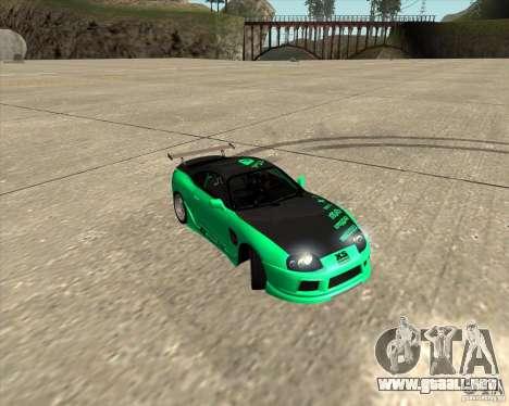 Toyota Supra ZIP style para vista inferior GTA San Andreas