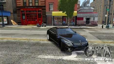 Mercedes-Benz CL65 AMG v1.5 para GTA 4 Vista posterior izquierda