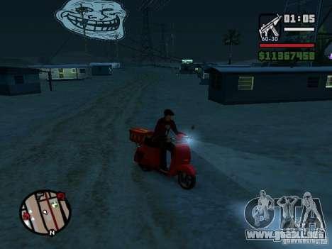 Trollface Moon para GTA San Andreas tercera pantalla