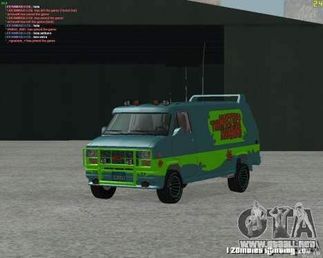 GMC Van 1983 para GTA San Andreas left
