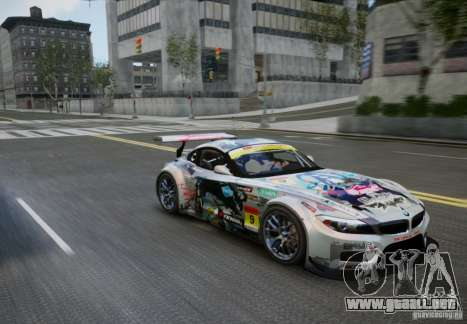 BMW Z4 GT3 2010 V.2.0 para GTA 4 visión correcta