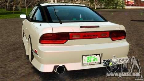 Nissan 240SX facelift Silvia S15 [RIV] para GTA 4 Vista posterior izquierda