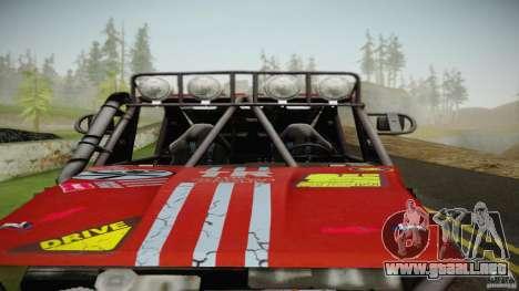 Buggy Off Road 4X4 para GTA San Andreas vista posterior izquierda