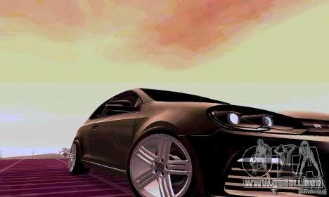 Volkswagen Golf GTI 2011 para la visión correcta GTA San Andreas