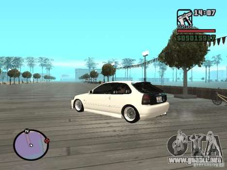 Honda Civic EK9 JDM para GTA San Andreas left