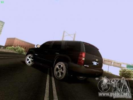 Chevrolet Tahoe 2009 Unmarked para GTA San Andreas vista posterior izquierda