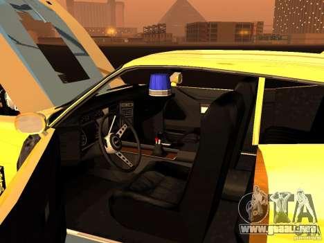 Ford Falcon XB Coupe Interceptor para visión interna GTA San Andreas
